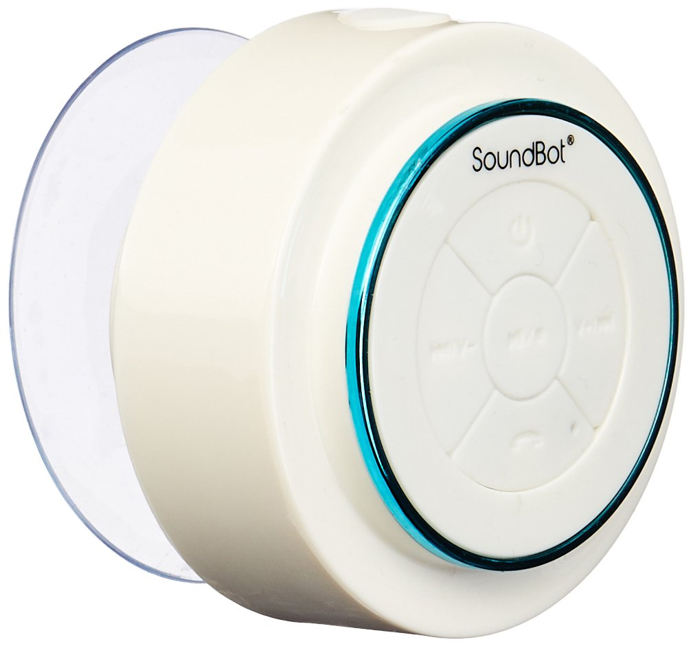 SoundBot SB517 IPX7 Water-Proof Bluetooth Speaker (Blue/White) SB517-BLU/WHT
