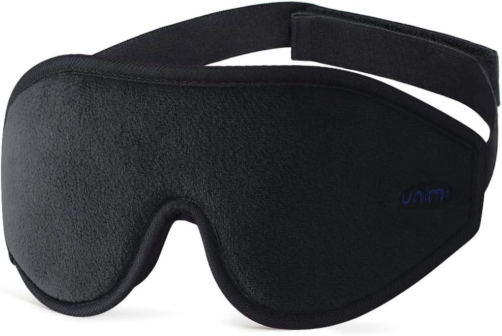 bloque toute la lumi/ère /à 100/% masque de sommeil pour les voyages le yoga les siestes Masque de nuit Unimi 2020 pour femmes et hommes masque de sommeil 3D en mousse /à m/émoire de forme et soie
