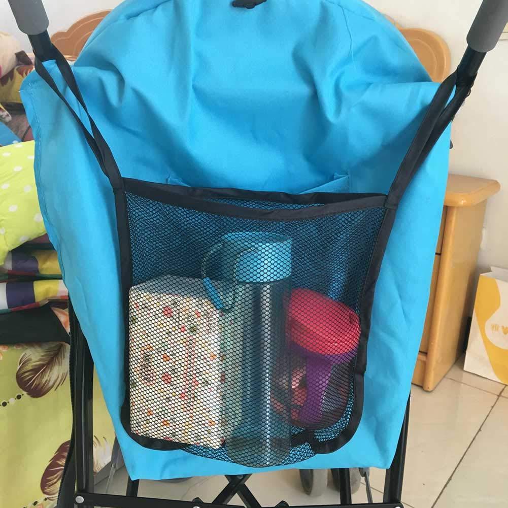 Multicolor chongfujiancai Pram Bag Large Capacity Portable Practical Universal Hanging Net Mesh Bag for Baby Infant Stroller Buggy Pram Pushchair