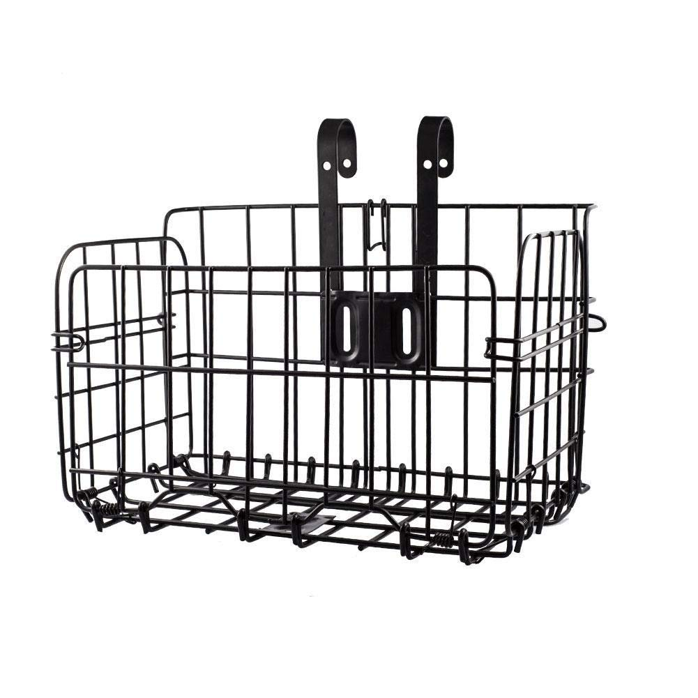 Gracefulvara Outdoor Bike Foldable Basket Wire Mesh Iron Bicycle Front Hanging Basket