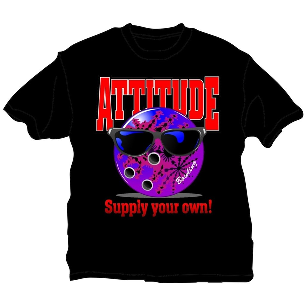 Bowlerstore Products Bowling Attitude T-Shirt- Black (Medium, Black) by Bowlerstore Products