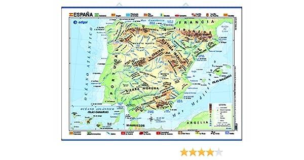 España, físico/político: Mapas Póster Cartografía: Amazon.es: Edigol Ediciones: Libros