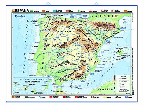 España, físico/político: Mapas Póster Cartografía: Amazon.es ...