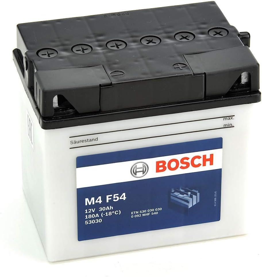Bosch M4F54 Batería motocicleta 53030 - 12V Plomo 30A/h-300A