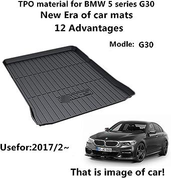 G30 WeatherTech DigitalFit 401005 - Black Fits 2018 BMW 5-Series All Weather Custom Fit Trunk Liner