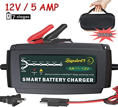 12 Volt Automatic Battery Maintainer Float Charger Car Cycle Boat ATV Tractor