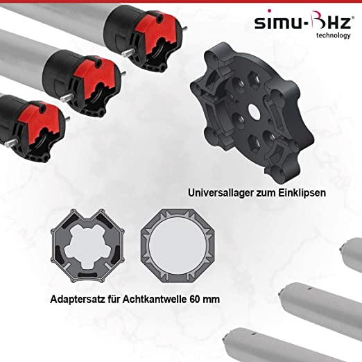Simu T5 Hz02 15//17 Funk Rolladenmotor Rollladen Antrieb Motor Jalousie Rohrmotor