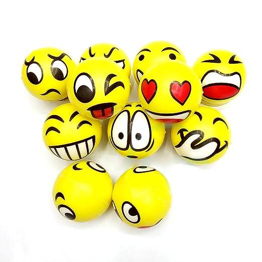 Pelota antiestrés Emoji Bolas de Stress Visage Juguete Pelota de ...