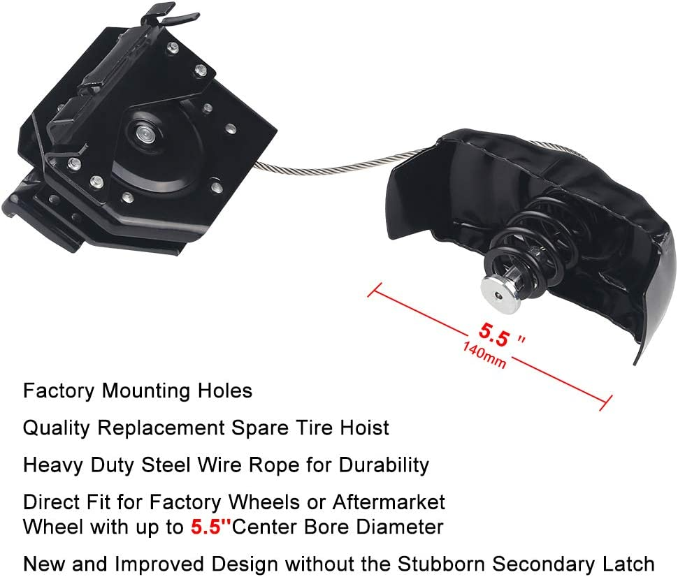 Spare Tire Hoist Fits for Cadillac Chevy Avalanche Suburban GMC Truck Spare Tire Wheel Winch Carrier Hoist Replace OE# 22968178 924-517