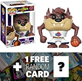 devil funko - Taz: Funko POP! Movies x Space Jam Vinyl Figure + 1 FREE American Cartoon Themed Trading Card Bundle (12429)