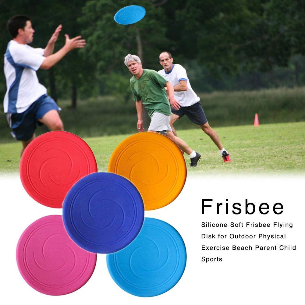 Disque de vol Souple en Silicone Frisbee de liuxi pour l'exercice Physique en Plein air Activités pour Les Parents et Les Enfants à la Plage - Couleur aléatoire