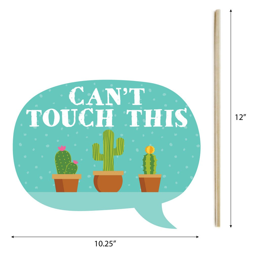 Funny Lets Fiesta Mexican Fiesta Party Photo Booth Props Kit 10