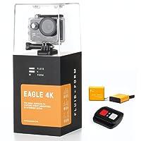 FLUID & FORM Action Camera 4K WIFI Rapido e Facile & App iSmart – Comodo Telecomando 2.4G – Batterie da 1350mAh Durature (Include 2 Batterie)