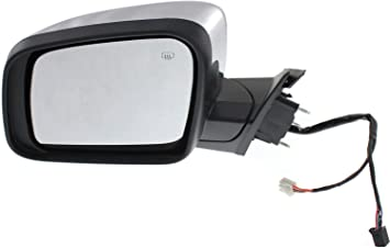 Mirror Compatible with 2011-2016 Jeep Grand Cherokee Power Manual Folding Heated with Memory and Signal Light Chrome Driver Side