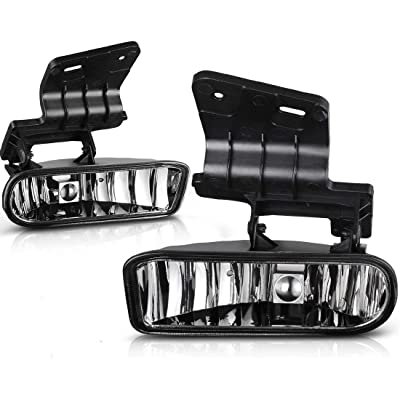 Sierra Yukon Driver and Passenger Fog Lights Lamps Replacement Pickup Truck 10385054 10385055: Automotive