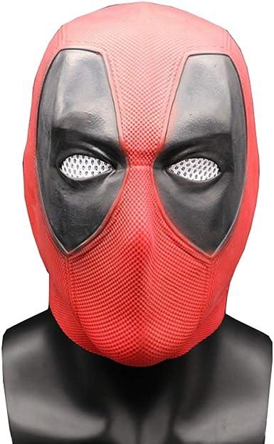 Deadpool 3 Mask Cosplay Full Face Leather Helmet Wade Superhero Accessories