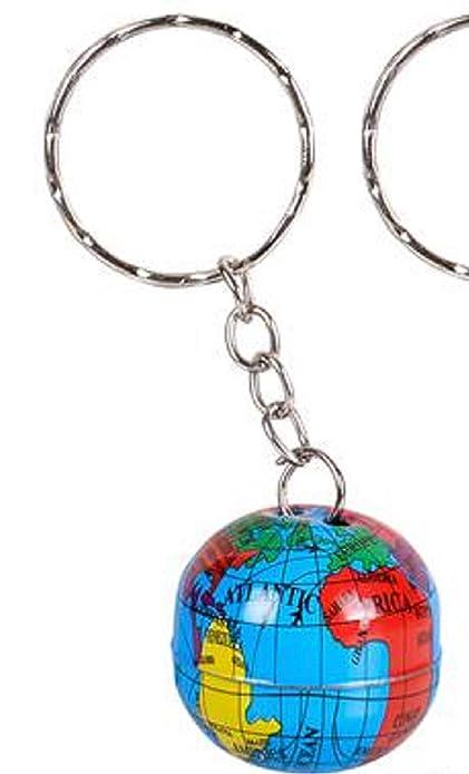 Amazon.com: Metal Mini Mapa Mundo Globo Llaveros Llavero ...