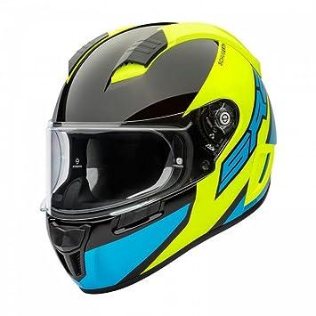 Schuberth SR2 deportes cara completa casco de moto – comodín amarillo XL