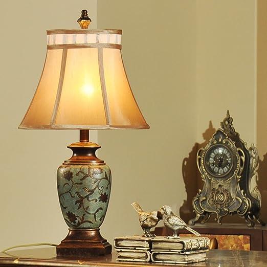 Guo American Retro Rustique Méditerranée Asie du Sud Salon Den Chambre chevet décoratif Vase chinois Lampe de table (Couleur : Multi colored2)
