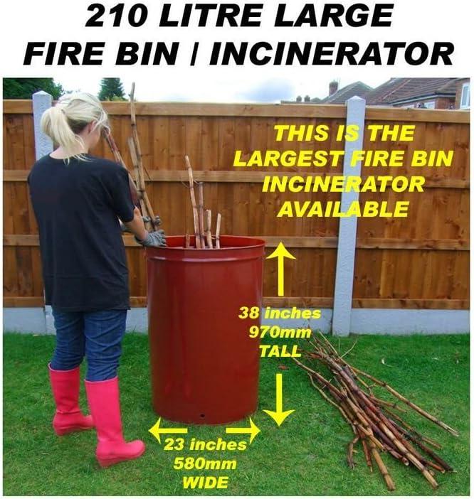 210 Litre Large Garden Incinerator/Burner by Keto Plastics