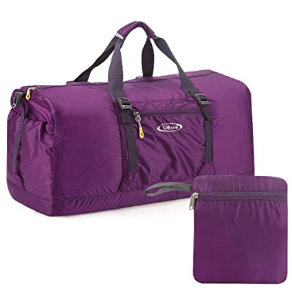 283e29df9c13 G4Free 60L Lightweight Foldable Portable Travel Duffel Bag for Gym Sports  Luggage Camping(Purple)  Amazon.ca  Sports   Outdoors