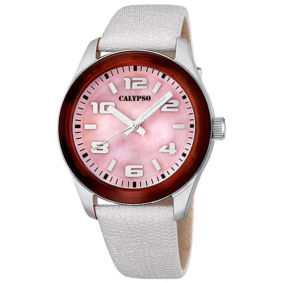 Calypso - Reloj de señora carey y blanco - K5653/5: CALYPSO: Amazon.es: Relojes