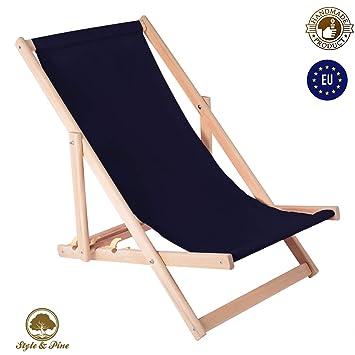 Amazinggirl Liegestuhl Klappbar Aus Holz Liege   Relaxliege Für Garten  Balkon Gartenliege Strandstuhl Schwarz