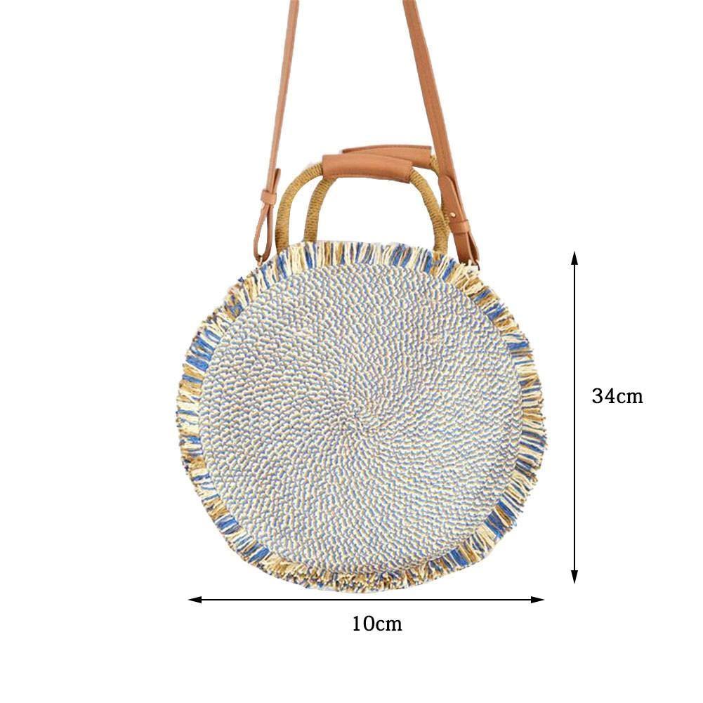 Women Tassel Bag Elegant Single Shoulder Crossbody Bag Portable Beach Handbag for Summer
