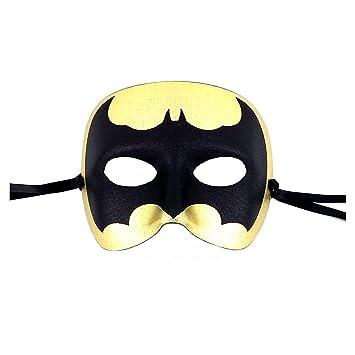 029f546d2b55 Samantha Peach Gold Batman Mens Masquerade Mask - Italian: Amazon.co.uk:  Toys & Games