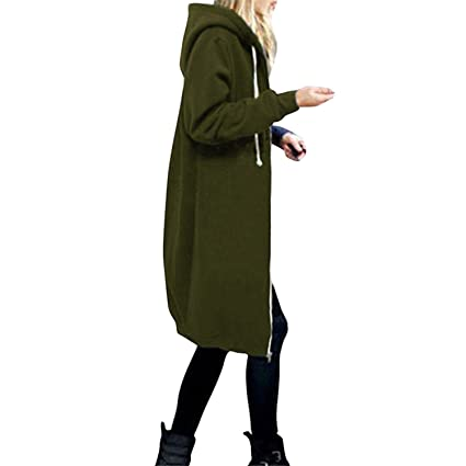 Alaimc Mando Winter Coats 2017 Fashion Autumn Women Long Hoodies Sweatshirts Coat Casual Pockets Zipper at Amazon Womens Clothing store: