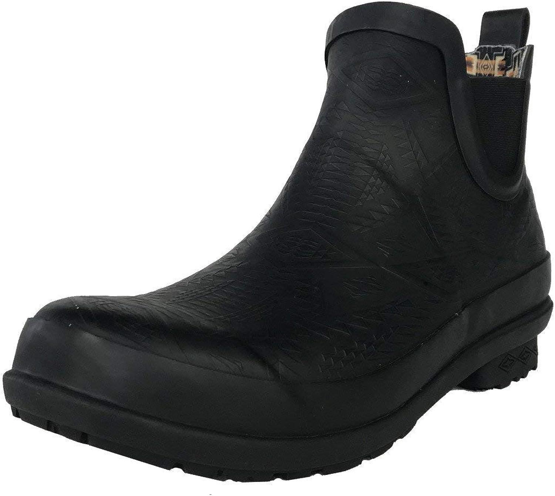 Pendleton Women's Heritage Chelsea Slip-Resistant Rain Boot, Black, Size
