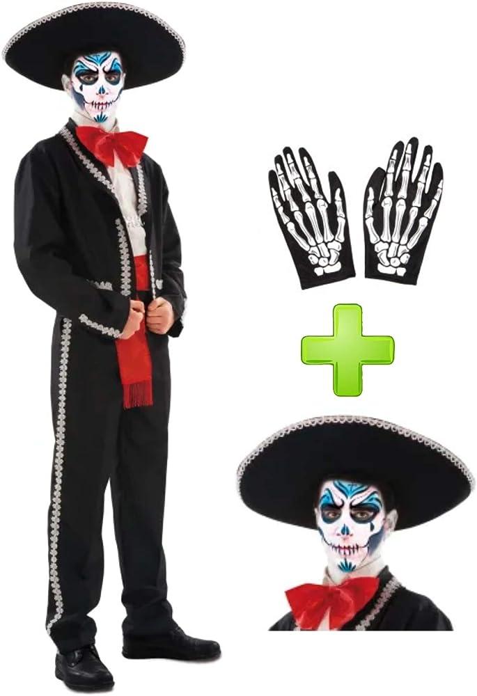 Disfraces Halloween Disfraz de Catrino Mariachi: Amazon.es: Ropa y ...