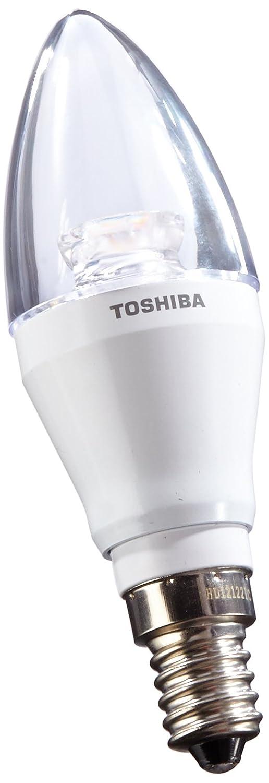 Toshiba LDCC0627CE4EUC - Bombilla vela LED (E14, 6 W), transparente: Amazon.es: Iluminación