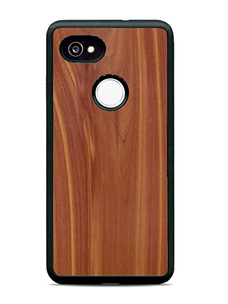 best service 00d4a e62bb Pixel 2 XL Eastern Red Cedar Wood Traveler Protective Case by Carved,  Unique Real Wooden Phone Cover (Rubber Bumper, Fits Google Pixel 2 XL)