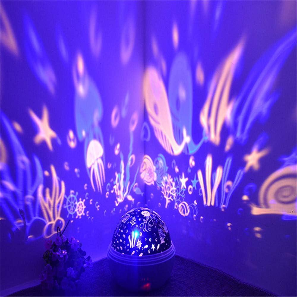 DZFDZ Proyector Nocturno Spinning Starry Sky Master Stars Rotación ...