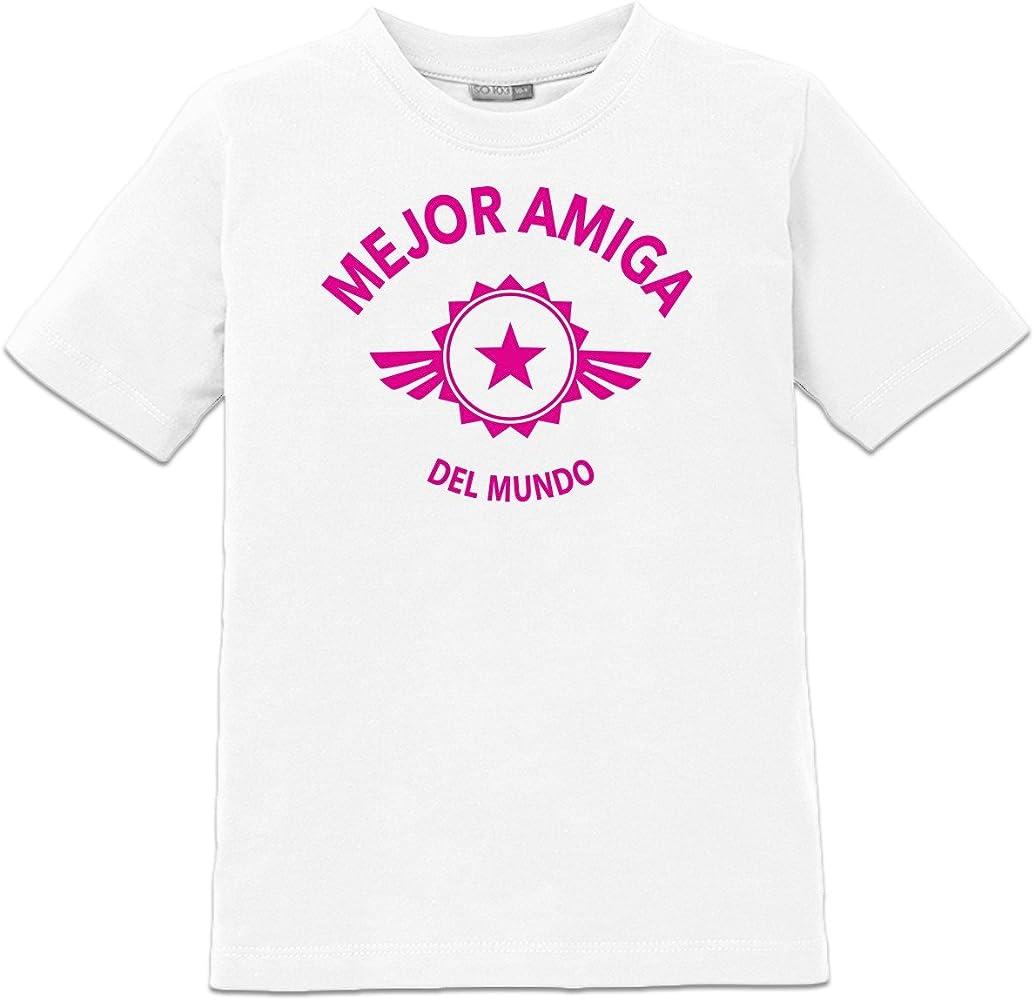 Camiseta de niño Mejor amiga del mondo by Shirtcity: Amazon.es: Ropa y accesorios