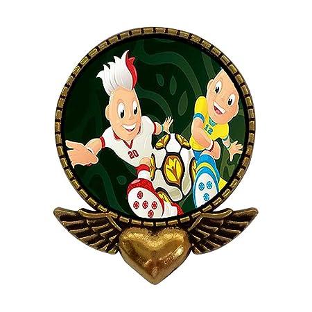 Chapado en oro antiguo estilo Mascots de Uefa Euro con balón de ...