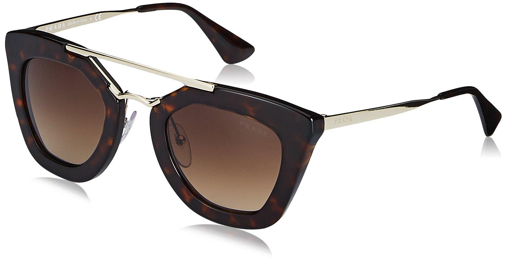 Prada Women's SPR09Q Cinema Sunglasses, Havana, 49mm
