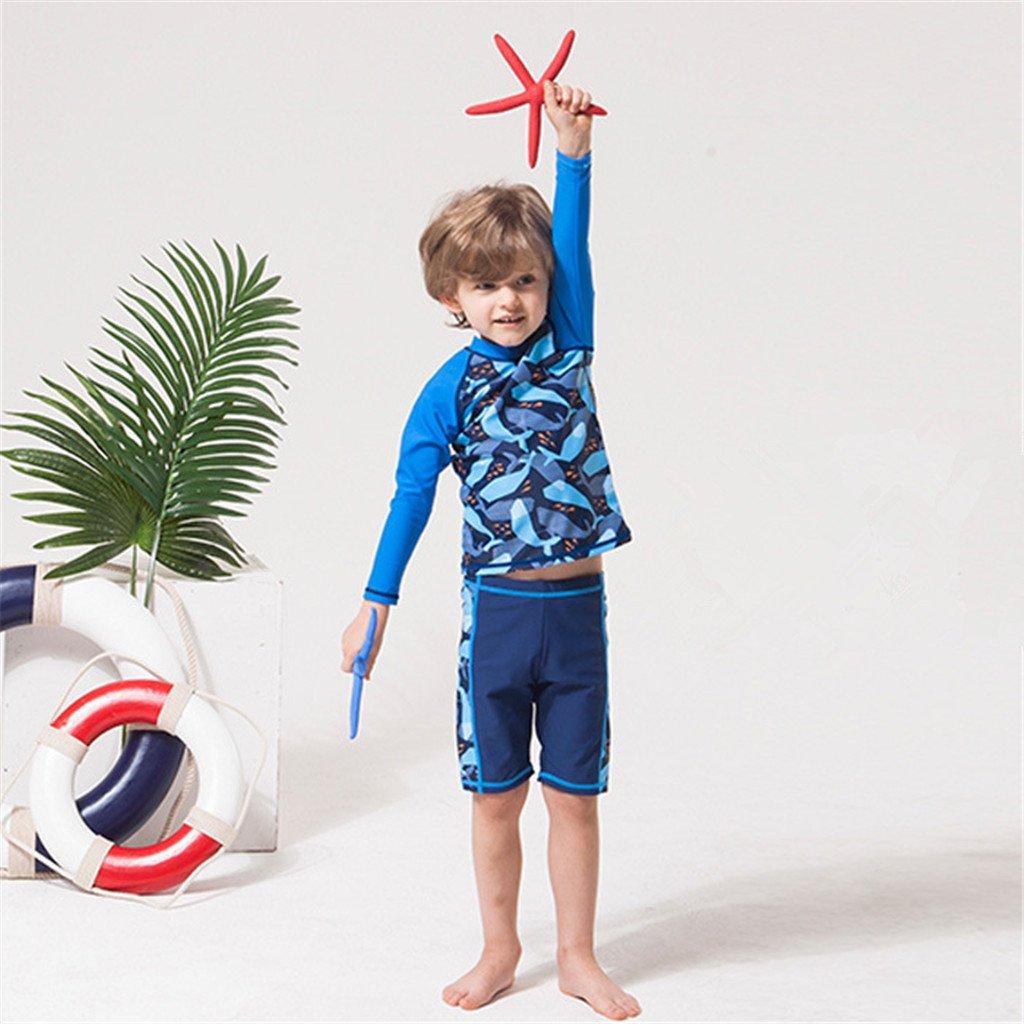 5db0d2c01a Kids 2 Pieces Swimwear Swim T-Shirt and Trunks SDW Trading Co TLD Gogokids  Boys Long Sleeved Swimsuit