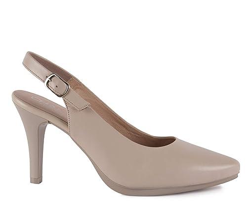 Planta Zapatos De Salón En Piel Chamby Destalonados GelAmazon WIY2HbE9eD
