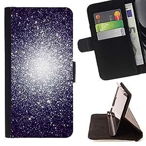 BullDog Case - FOR/Sony Xperia m55w Z3 Compact Mini / - / star cluster system universe cosmos /- Monedero de cuero de la PU Llevar cubierta de la caja con el ID Credit Card Slots Flip funda de cuer