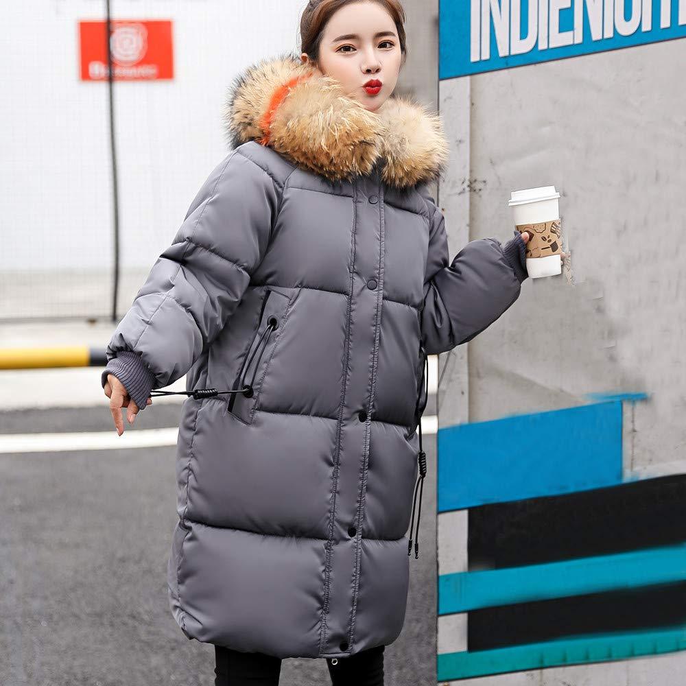 JESPER Women Winter Solid Thicker Warm Lammy Down Jacket with Pocket Shearling Overcoat