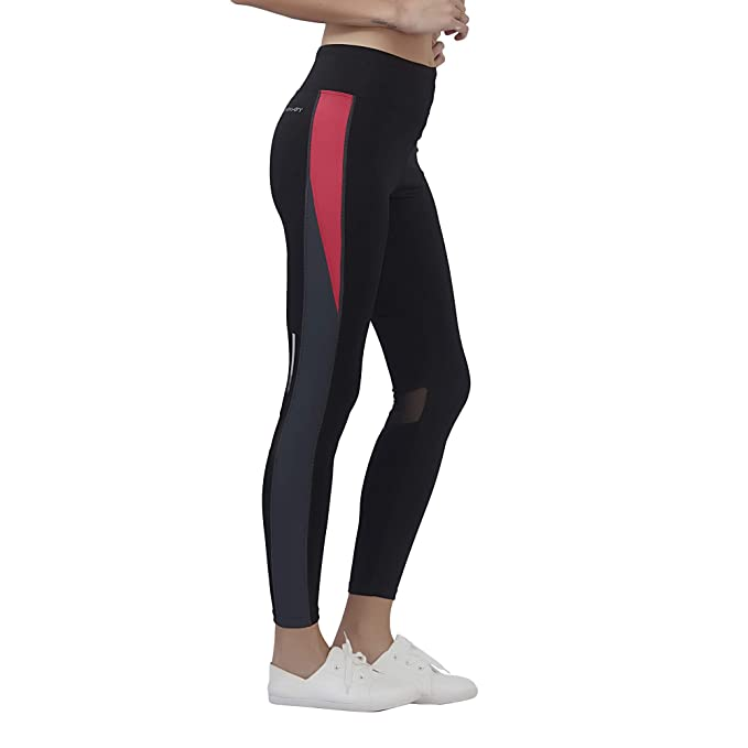 hot sale release date official site Veloz Sports wear/High Waist Yoga Pants for Women/Stretchable Gym Pants for  Ladies/Tights & Leggings with Reflective Tape and Mesh Patch - 0N
