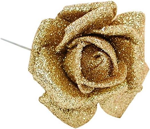 10`er Set Filigree Beads Adhesive Flowers Rose 2,5 cm great craft items x 4396