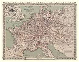 Buy Bradshaws Continental Railway Map Of Central Europe 1913 Luxury
