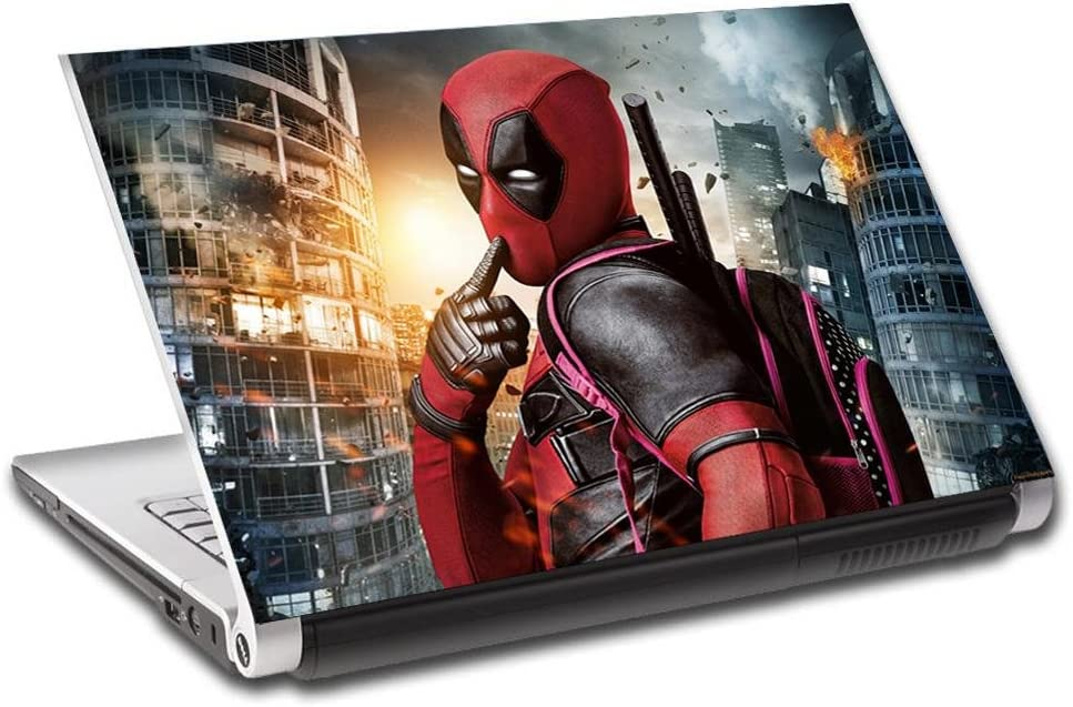 Deadpool Personalized LAPTOP Skin Vinyl Decal Sticker WITH YOUR NAME Marvel L112-14""