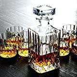 Ducati Crystal Clear 1 Glass Decanter 750 ml and 6 Whisky Glasses (320 ml)