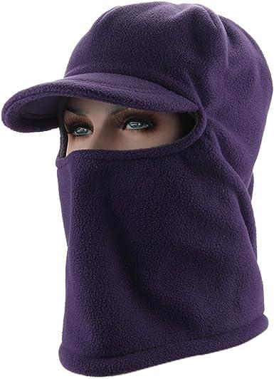 Home Prefer Mens Balaclava Fleece Hood Windproof Face Mask Skull Cap with Visor