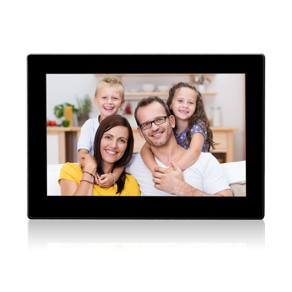 Digital Photo Frame 10.1 Inch Wi-Fi Cloud Digital Picture Frame HD Video 720p with Motion Sensor, 8GB USB Memory 1024x768 High Resolution Support USB & SD/SDHC Card ,iPhone & Android app,Email by Wecool