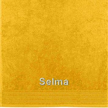 Erwin Müller Selma Toalla con nombre bordado, sol, 50 x 100 cm: Erwin Müller: Amazon.es: Hogar